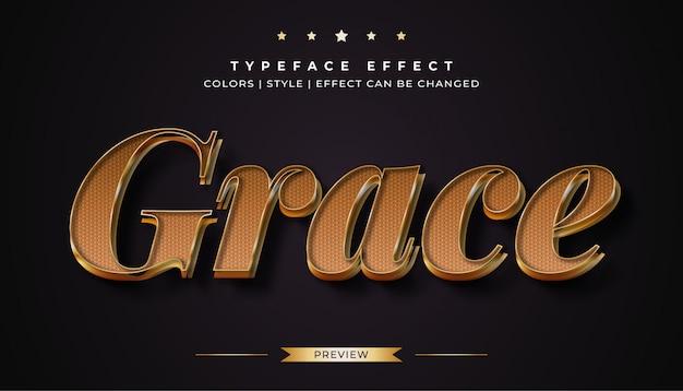 Efeito de estilo de texto dourado de luxo