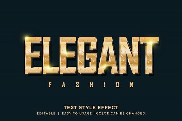Efeito de estilo de texto dourado elegante para marca de moda