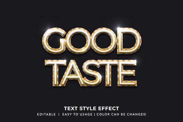 Efeito de estilo de texto dourado luminoso