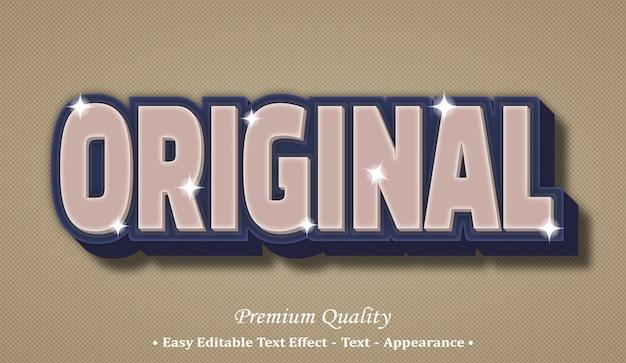 Efeito de estilo de texto editável 3d original