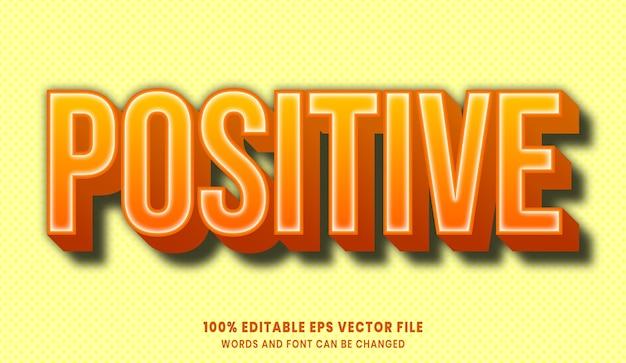 Efeito de estilo de texto editável 3d positivo