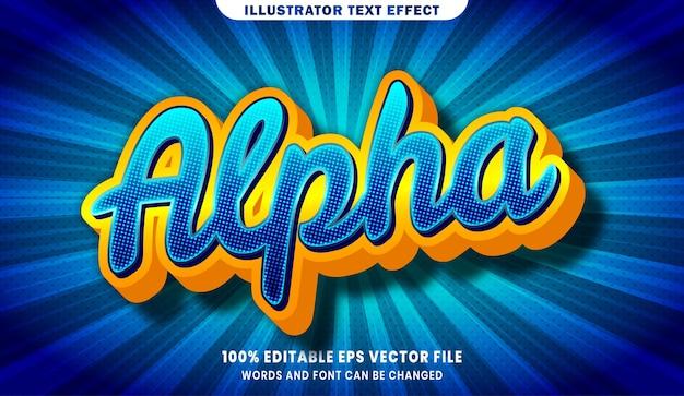 Efeito de estilo de texto editável alpha 3d