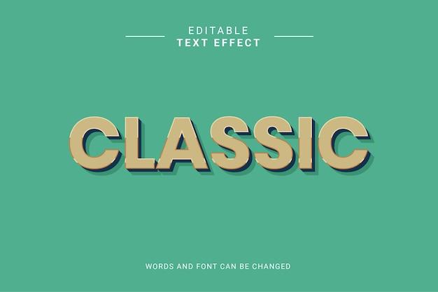 Efeito de estilo de texto editável clássico