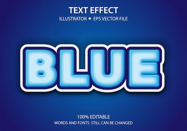 Efeito de estilo de texto editável cute blue premium