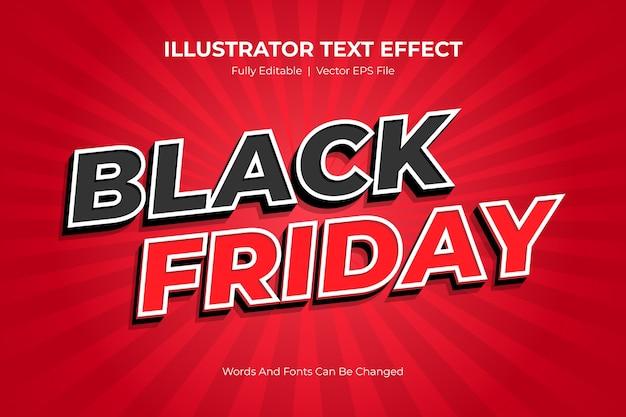 Efeito de estilo de texto editável da black friday
