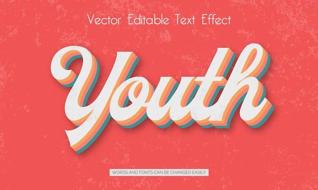 Efeito de estilo de texto editável da juventude