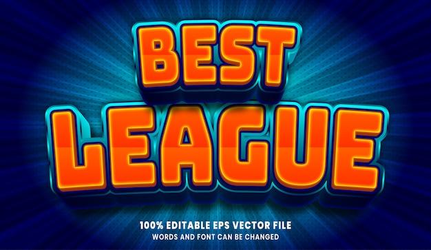 Efeito de estilo de texto editável da melhor liga