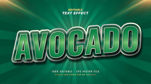Efeito de estilo de texto editável de abacate