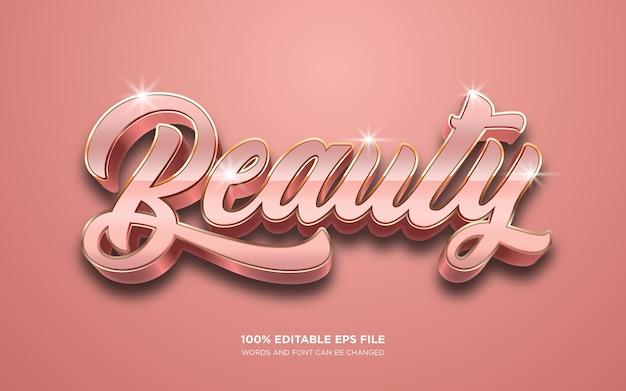 Efeito de estilo de texto editável de beleza