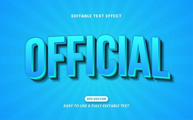 Efeito de estilo de texto editável de carta oficial