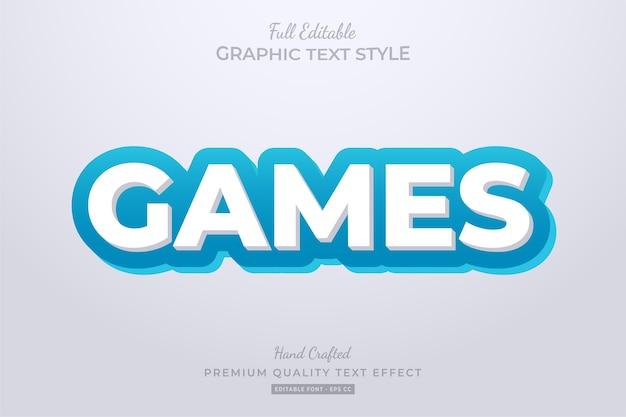 Efeito de estilo de texto editável de desenhos animados de jogos