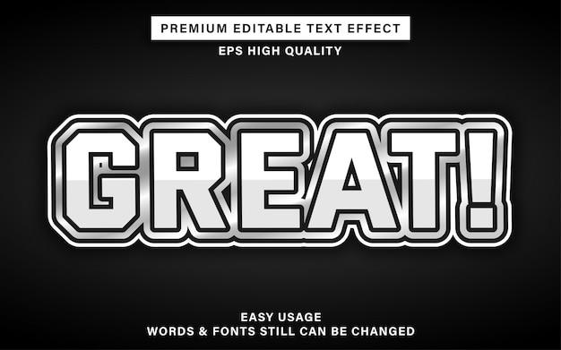 Efeito de estilo de texto editável de grande luxo