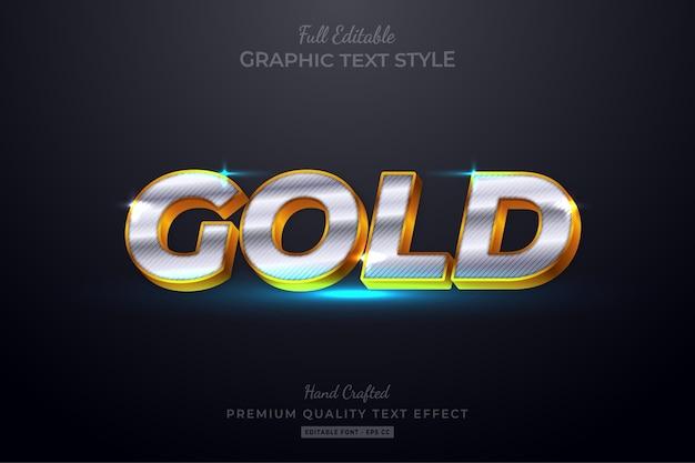 Efeito de estilo de texto editável de luxo dourado