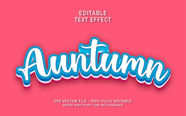 Efeito de estilo de texto editável de outono