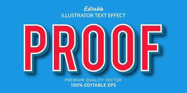 Efeito de estilo de texto editável de prova