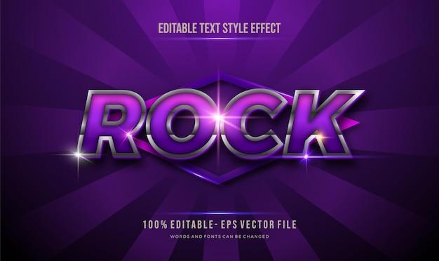 Efeito de estilo de texto editável de rock com cor roxa
