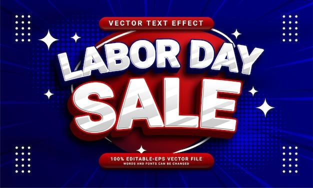 Efeito de estilo de texto editável de venda do dia do trabalho adequado para promoção de vendas na celebração do dia do trabalho