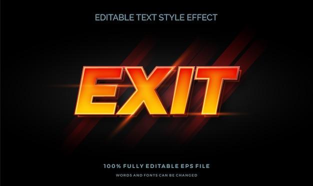 Efeito de estilo de texto editável do estilo gradiente 3d.