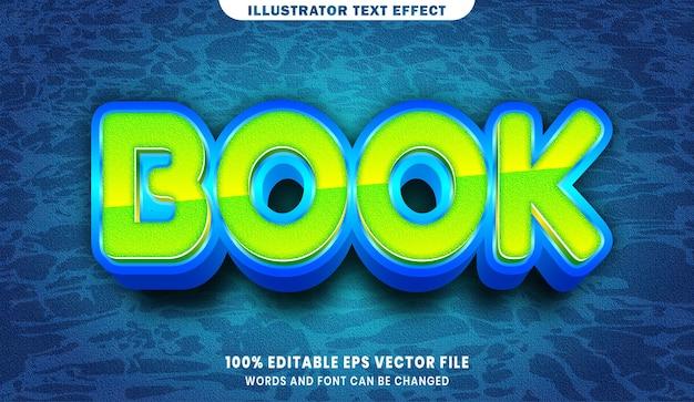 Efeito de estilo de texto editável do livro 3d