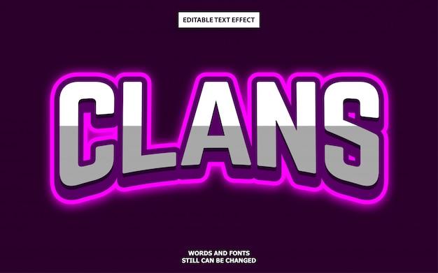 Efeito de estilo de texto editável do logotipo esports