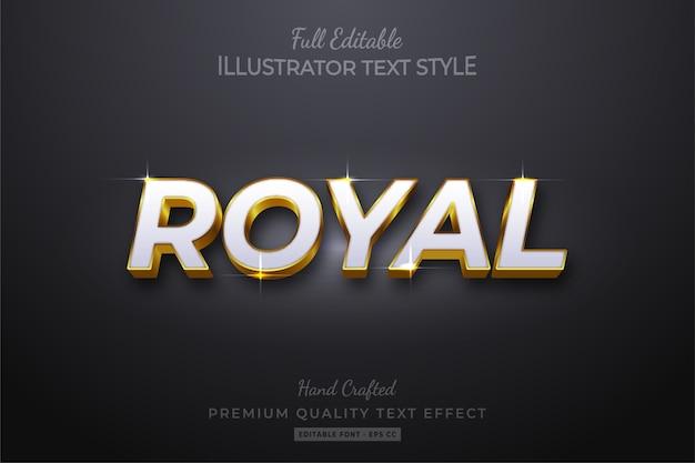 Efeito de estilo de texto editável dourado