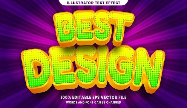 Efeito de estilo de texto editável em 3d de melhor design