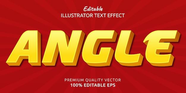 Efeito de estilo de texto editável em ângulo