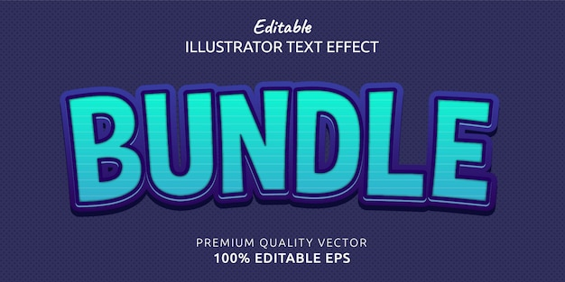 Efeito de estilo de texto editável em pacote
