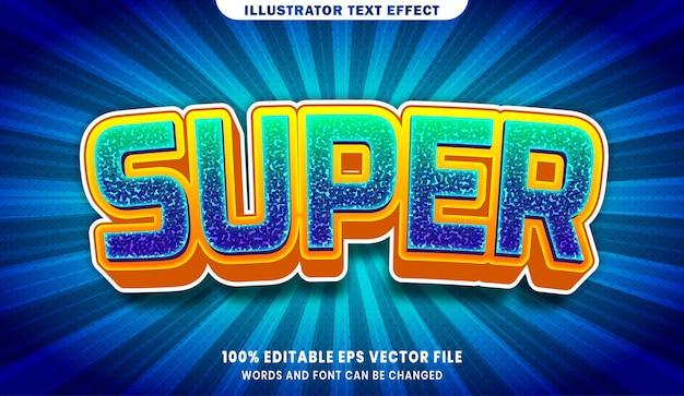 Efeito de estilo de texto editável em super 3d