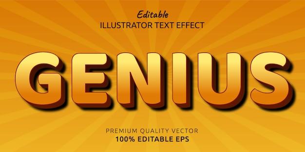 Efeito de estilo de texto editável genius