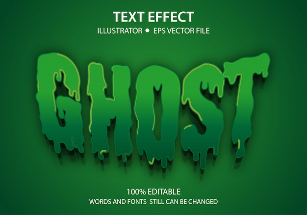 Efeito de estilo de texto editável ghost