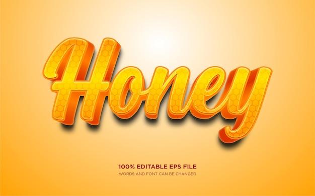 Efeito de estilo de texto editável honey
