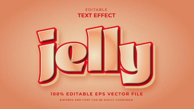 Efeito de estilo de texto editável jelly