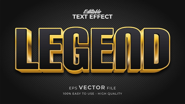 Efeito de estilo de texto editável - legenda tema de estilo de texto retro