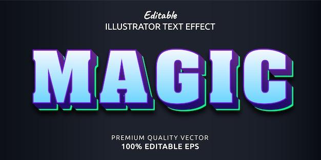 Efeito de estilo de texto editável mágico