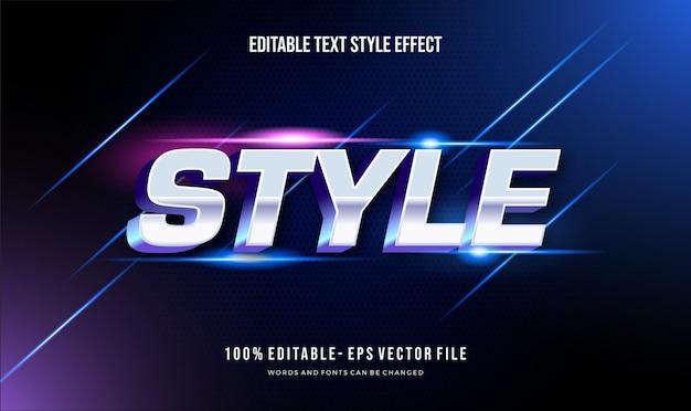 Efeito de estilo de texto editável moderno. estilo de fonte editável.
