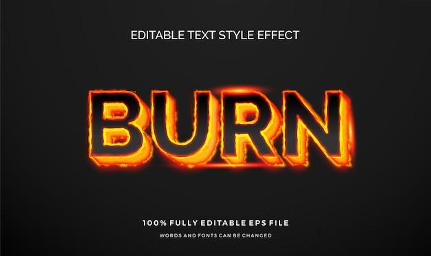 Efeito de estilo de texto editável moderno.