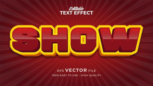 Efeito de estilo de texto editável - mostrar tema de estilo de texto