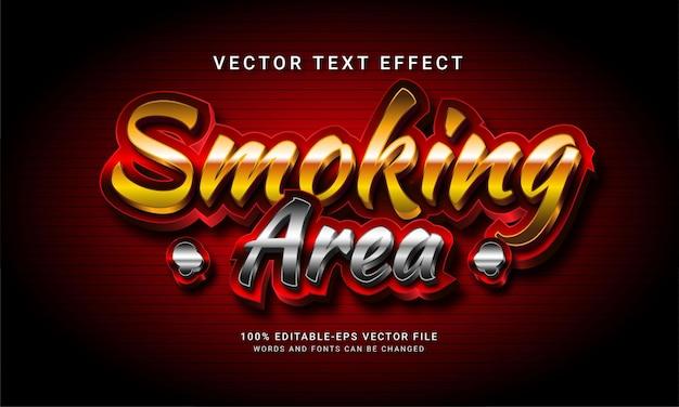 Efeito de estilo de texto editável na área de fumar em 3d