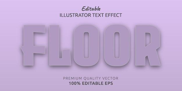 Efeito de estilo de texto editável no chão