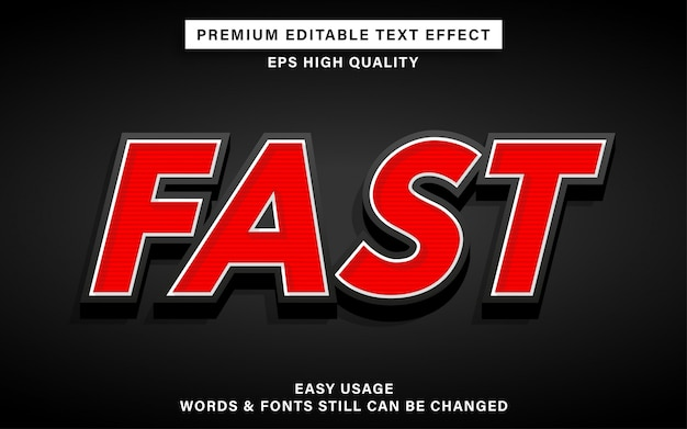 Efeito de estilo de texto editável rápido