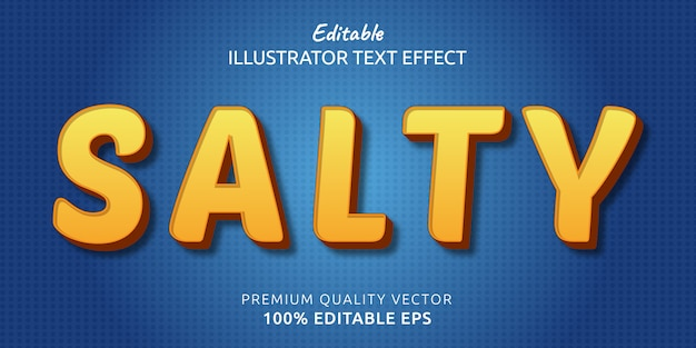 Efeito de estilo de texto editável salgado