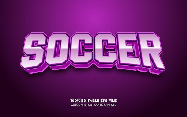Efeito de estilo de texto editável soccer 3d
