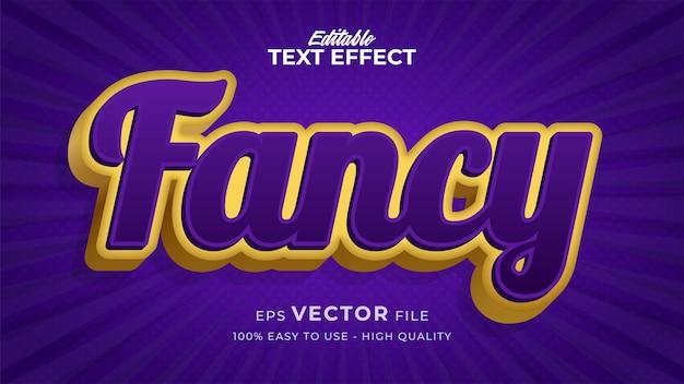 Efeito de estilo de texto editável - tema chique de estilo de texto retro