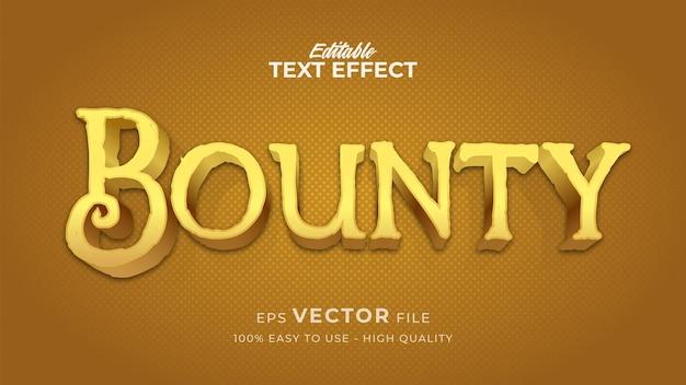 Efeito de estilo de texto editável - tema de estilo de texto bounty