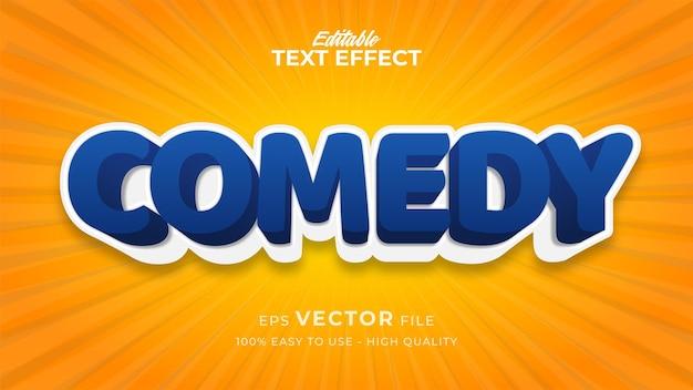 Efeito de estilo de texto editável - tema de estilo de texto de comédia