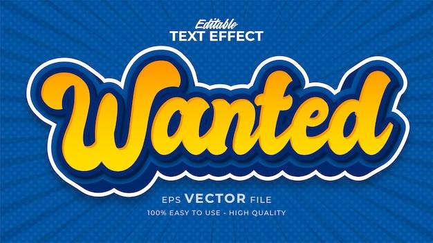 Efeito de estilo de texto editável - tema de estilo de texto em quadrinhos