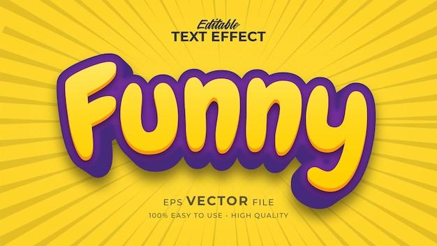 Efeito de estilo de texto editável - tema de estilo de texto engraçado
