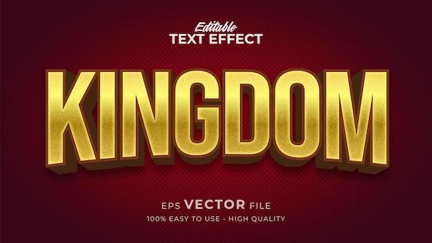 Efeito de estilo de texto editável - tema de estilo de texto gold kingdom