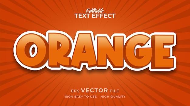 Efeito de estilo de texto editável - tema de estilo de texto laranja